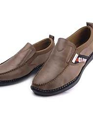 Homens sapatos Microfibra Tecido Primavera Outono Conforto Mocassins e Slip-Ons Caminhada para Casual Escritório e Carreira Camel Khaki
