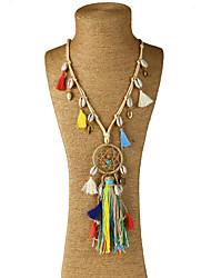 Femme Collier court /Ras-du-cou Pendentif de collier Colliers Déclaration Forme GéométriqueMatériaux Mixes Alliage de métal Résine