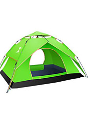 cheap -3-4 persons Tent Double Camping Tent One Room Automatic Tent Waterproof Rain-Proof Anti-Insect for Camping / Hiking Canvas CM