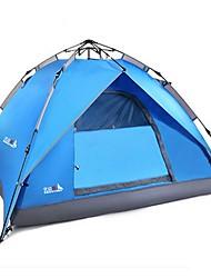 Недорогие -BSwolf 4 человека Автоматический тент На открытом воздухе Водонепроницаемость Дожденепроницаемый Защита от пыли Двухслойные зонты Палатка 2000-3000 mm для Отдых и Туризм Стекловолокно Терилен