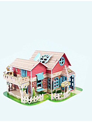 cheap -3D Puzzles Toys House Lighting Paper Kid Pieces
