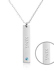 cheap -Personalized Gift Necklace Stainless Steel Women's Simple Geometric Nature Inspired Fashion Gift