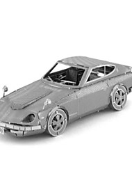 cheap -Toy Cars 3D Puzzles Jigsaw Puzzle Metal Puzzles Train Car 3D DIY Stainless Steel Chrome Metal Classic 6 Years Old and Above