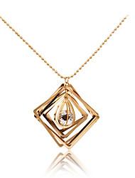 cheap -Women's Rhinestone Pendant Necklace - Personalized Geometric Unique Design Pendant Tassel Tag Statement Movie Jewelry Hypoallergenic