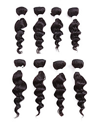 8inch 8PCS/set for One Full Head Deep Body Hair Blend 90% Brazilian Virgin Human Hair and 10% Imported Japan Premium Synthetic Fibre Hair Weft
