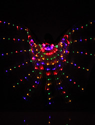 Belly Dance LED Isis Wings Women's Performance 3 Pieces Belly Dancing Accessory Stage Performance Props 8 colors available Christmas Halloween