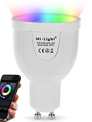 cheap -5W GU10 LED Smart Bulbs A60(A19) 12 leds SMD 5730 Infrared Sensor Remote-Controlled WIFI Light Control Dimmable Warm White RGB Dual Light