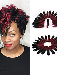 cheap -Pre-curled Textured Synthetic Bouncy Curl Hair 10inch Easy Crochet Braids Toni curl Kanekalon Curls 20pcs/pack ombre color braiding hair extension