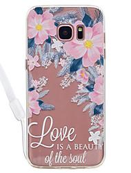 Недорогие -Кейс для Назначение SSamsung Galaxy S8 Plus S8 Прозрачный С узором Задняя крышка Слова / выражения Прозрачный Цветы Твердый Акриловое