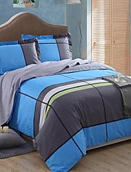 economico -Tela 4 pezzi Cotone Cotone 1 Copripiumino Copri cuscino (2 pz.) Lenzuolo (1 pz.)