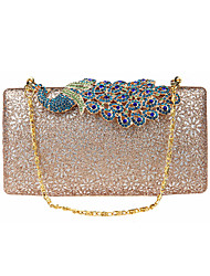 Women Bags All Seasons Polyester Evening Bag with Rhinestone for Wedding Event/Party Formal Blue Champagne Gold Black Pinky