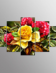 economico -Stampe a tela Astratto, Cinque Pannelli Tela Orizzontale Stampa Decorazioni da parete Decorazioni per la casa