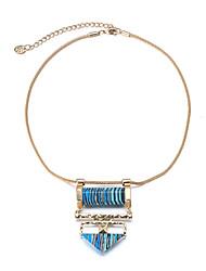 Жен. Заявление ожерелья Синтетический сапфир Геометрической формы Изумрудный С логотипом Винтаж По заказу покупателя вбок Euramerican