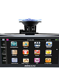 baratos -Kkmoon 7 hd touch screen navegador gps portátil 128mb ram 4gb rom fm mp3 video play carro sistema de entretenimento com apoio de volta