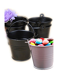 cheap -Tin Candy Pails Beter Gifts® Party Decorations - 12pcs/set - 7 x 6 x 6 cm/pcs