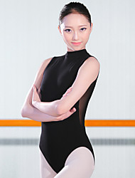 Ballet Leotards Women's Training Spandex 1 Piece Sleeveless High