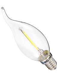 cheap -2W E14 LED Filament Bulbs C35 2 leds COB Dimmable Warm White White 200lm 2700-3200 6000-6500K AC 220-240V