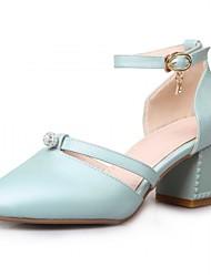 Недорогие -Для женщин Обувь Синтетика Дерматин Полиуретан Лето Осень Удобная обувь Оригинальная обувь Обувь на каблуках Для прогулок На толстом