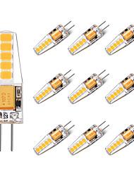 cheap -BRELONG® 10pcs 2W 250 lm G4 LED Bi-pin Lights T 10 leds SMD 2835 Warm White White AC/DC 12