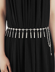Belly Dance Belt Women's Performance Metal Crystals/Rhinestones 1 Piece Waist Accessory Jewelry Body Chain