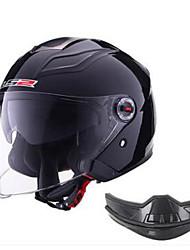 cheap -LS2  578 Motorcycle Locomotive Half Helmet Union Helmet Helmet Man And Woman Double Lens Three-Quarter Helmet Helmet