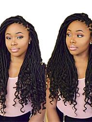 """cheap -Dreadlocks/Faux Locs Hair Braid Crochet Faux Dreads Faux Dreads Dreadlock Extensions 18"""" 100% Kanekalon Hair Dark Black Natural Black"""