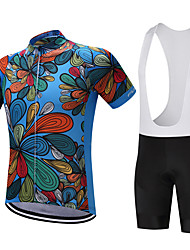 cheap -FUALRNY® Cycling Jersey with Bib Shorts Men's Short Sleeves Bike Clothing Suits Quick Dry Moisture Permeability Softness smooth