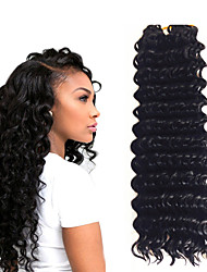 14inch 3 piece a lot 1B Deep Twist Jumbo Hair Extensions Kanekalon Hair Braids 5- 6pack for a head