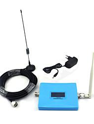 Mini display intelligente gsm 900mhz w-cdma 2100mhz ricaricatore del segnale del telefono cellulare 2g 3g con antenne frusta antenna