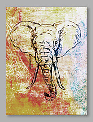 IARTS® Hand Painted Oil Painting Modern Elephant Portrait Abstract Art Acrylic Canvas Wall Art For Home Decoration