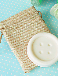 cheap -Mini Soap Favor in Burlap Bag Beter Gifts® Baby Birthday Party Favor