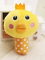 cheap -Cat Toy Dog Toy Pet Toys Plush Toy Cute Squeak / Squeaking Elastic Durable Chicken & Chick Flexible Chicken Fabric Polyester For Pets
