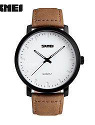 cheap -SKMEI Men's Wrist Watch Hot Sale Genuine Leather Band Charm / Fashion Brown