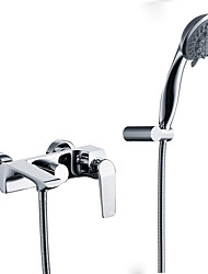 Centerset Handshower Included with  Ceramic Valve Three Holes for  Chrome , Bathtub Faucet