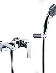 Недорогие -Смеситель для ванны Хром По центру Керамический клапан