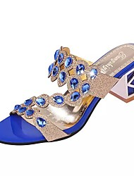 cheap -Women's Shoes PU Summer Comfort Sandals for Casual Gold Black Blue