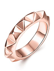 preiswerte -Damen Ring Schmuck Silber Rotgold Roségold Kupfer Rose Gold überzogen Geometrische Form Irregulär Personalisiert Luxus Geometrisch