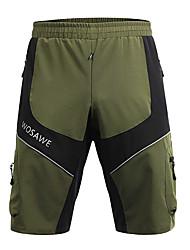 baratos -WOSAWE Homens Shorts para Ciclismo Moto Shorts largos / Bermudas para MTB / Calças Ciclismo, Exterior, Tiras Refletoras Clássico Poliéster