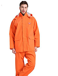 cheap -Motorcycle Raincoat Knit Orange Double-Layer Raincoat Rain Pants