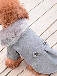 abordables -Perro Abrigos Ropa para Perro Un Color Negro Gris Algodón Plumón Disfraz Para mascotas Hombre Mujer Casual/Diario