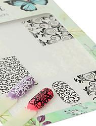 economico -1 Adesivi per manicure Fantasia Effetto 3D Articoli DIY Adesivo Per ragazza Cosmetici e trucchi Fantasie design per manicure