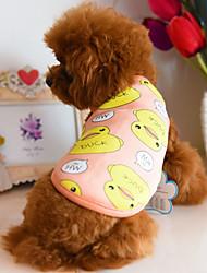Cachorro Colete Roupas para Cães Lã Polar Primavera/Outono Casual Desenhos Animados Laranja Azul Escuro Azul Para animais de estimação