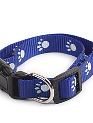 Cachorro Colarinho Portátil Leopardo Náilon Vermelho Azul