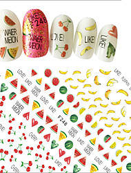 1pcs Summer Hot Fashion Nail Art 3D Fruit Sticker Manicure DIY Supplies Colorful Fruit Banana Watermelon Lovely Red Cherry Design Decoration Tip F248