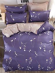 economico -Set Copripiumino Piante 4 pezzi 100% cotone Stampa 100% cotone (Se è per letto matrimoniale, solo un copricuscino o una federa)