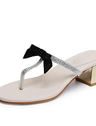 Недорогие -Для женщин Сандалии Удобная обувь Милая Мода Полиуретан Весна Лето Повседневные Для праздника На выход Удобная обувь Милая МодаСтразы