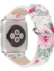 abordables -Reloj de la venda para la serie del reloj de la manzana 1 2 38m m 42m m hebilla clásica venda del reemplazo del cuero genuino