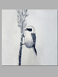 IARTS® Hand Painted Modern Abstract Bird Standing On The Grass Straw Oil Painting On Canvas with Stretched Frame Wall Art For Home Decoration
