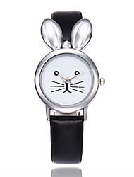 baratos -Mulheres Crianças Único Criativo relógio Relógio de Moda Chinês Quartzo Relógio Casual PU Banda Criativo Elegant Preta Branco Vermelho