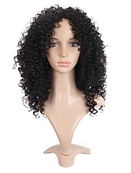 Short Afro Curly Wig For African American Black Color Heat Resistant Synthetic Wigs For Black Women